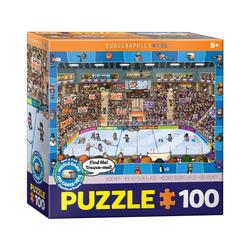 EUROGRAPHICS Puzzle Eurographics 6100-0475 Eishockey 100 Teile Puzzle, Puzzleteile bunt