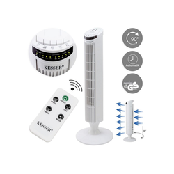 KESSER Standventilator, Turmventilator mit Fernbedienung LED Display Standventilator Klimaanlage weiß