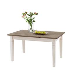 Holztisch in Weiß Grau Kiefer massiv