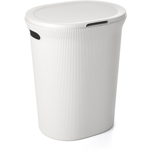 TATAY Wäschekorb mit Deckel 41 x 33 x 50 cm weiß