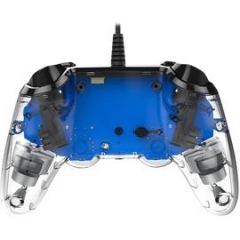 nacon PS4 Compact Controller Illuminated transparent / blau
