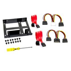 FANTEC Einbaurahmen für 2x 2,5 Zoll HDD/SSD Einbaurahmen schwarz