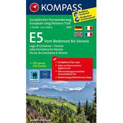 E 5 Bodensee bis Verona 1 : 50 000