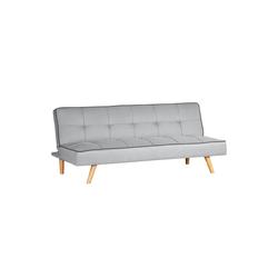 Homestyle4u Schlafsofa, Schlafcouch, 97x175 cm ausklappbar grau