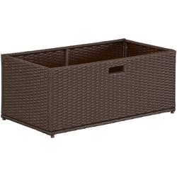 MERXX Auflagenbox, Polyrattan braun Auflagenboxen Garten, Terrasse Balkon Auflagenbox