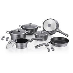 Marmor-Beschichtung Kochgeschirr-Set 14 Stück Silber