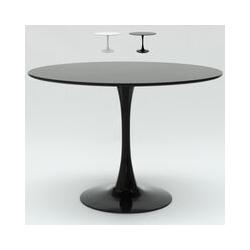 Ahd Amazing Home Design - Table de salon Tulip ronde noir et blanc 120 cm bar cuisine et restaurant