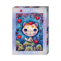 HEYE Puzzle Puzzle Strawberry Kitty, Dreaming, 1.000 Teile, Puzzleteile