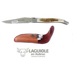Laguiole Frankreich Taschenmesser Original LAGUIOLE en Aubrac Taschenmesser Griffschalen Hirschhorn