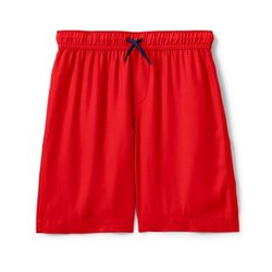 Badeshorts, Kids, Größe: 128/134 Junge, Rot, Leinen, by Lands' End, Rotes Feuer - 128/134 - Rotes Feuer