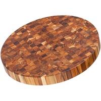 Teakhaus Schneidebrett 45,7x5 cm rund, Holz, braun, 45x20x15 cm