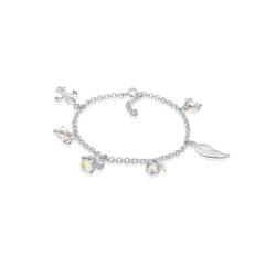 Nenalina Armband Bettelarmband Anhänger Engel Flügel 925 Silber