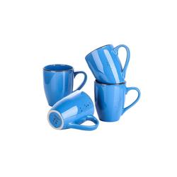 vancasso Tasse NAVIA, Steingut, Steingut Kaffeetassen blau