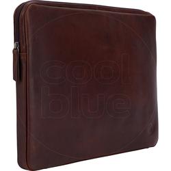 BlueBuilt 15-Zoll-Laptophülle Breite 36 cm - 37 cm Leder Braun