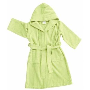 framsohn Kinderbademantel Kaputze Basic Grün Größe 164
