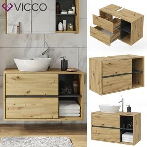 Vicco Wachtischunterschrank Viola Badschrank Waschbeckenunterschrank hängend