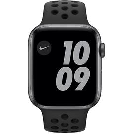 Apple Watch Series 6 Nike GPS + Cellular 44 mm Aluminiumgehäuse space grau, Nike Sportarmband anthrazit/schwarz