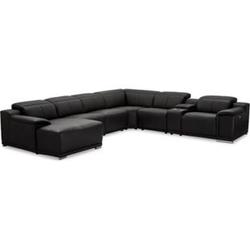 Alyssa Kunstleder Sofa U-Form links Wohnlandschaft Wohnzimmer Eck Couch Garnitur