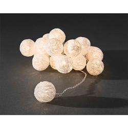 LED Dekolichterkette 16 ww LED 3135-103 'weiße Baumwollkugeln'
