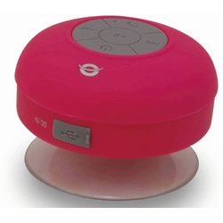 Conceptronic Lautsprecher Wasserdichter Bluetooth Saugnapf-Lautsprecher rosa