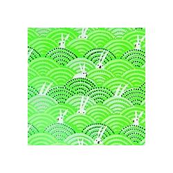 Geschenkpapier Ostern  Hasen Im Feld  Grün  FSC Mix