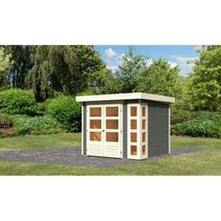 Woodfeeling Gartenhaus Kerko 3, 19 mm terragrau