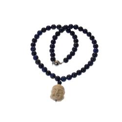 Bella Carina Perlenkette Lapislazuli Buddha, mit Lapislazuli 55 cm
