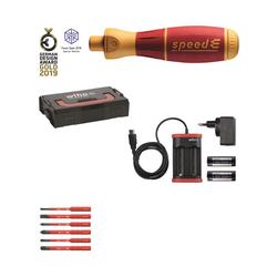 E-Schraubendreher Set 1 speedE® Schlitz, Phillips,PlusMinus/Pozidriv 10-tlg in L-Boxx Mini mit sli