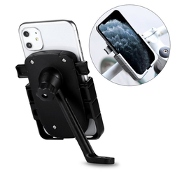 cofi1453 cofi1453® 360 Grad Verstellbarer Halterung Universal Fahrrad Handyhalterung für Rückspiegel Halter Fahrrad Fahrradhalterung für Smartphones Smartphone-Halterung schwarz