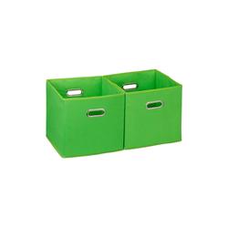 relaxdays Aufbewahrungsbox Aufbewahrungsbox Stoff 2er Set