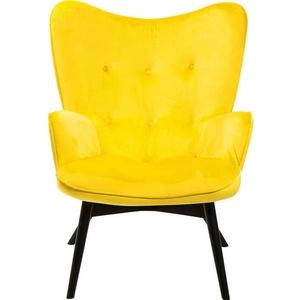 Kare Design Sessel Black Vicky Velvet Yellow