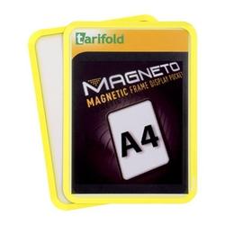 Magnetische tasche a4, 2 stk., gelb