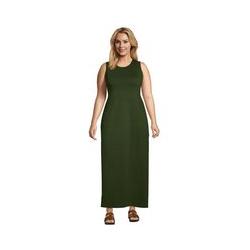 Maxi-Strandkleid in großen Größen, Damen, Größe: 48-50 Plusgrößen, Grün, Baumwolle, by Lands' End, Schnittlauch - 48-50 - Schnittlauch