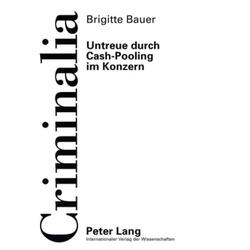 Untreue durch Cash-Pooling im Konzern als Buch von Brigitte Bauer