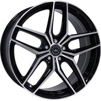 Meisterwerk MW02 black polished 10.5x21 ET35 - LK5/120 ML72.6 Alufelge schwarz