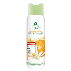 Frosch Senses Sensitiv-Dusche Duschgel, Besonders hautschonende Duschpflege, 300 ml - Flasche, Orangenblüte