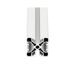 PremiumX Profil 2000mm Aluminium 40x40 mm Nut 8 Strebenprofil Weiß 4040 Alu Konstruktionsprofil Aluprofil 2m