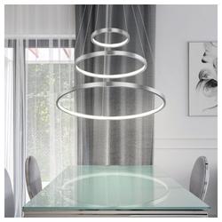 etc-shop Hängeleuchte, Hängeleuchte Wohnzimmer LED Pendelleuchte Ring Hängelampe Esstisch dimmbar höhenverstellbar, 1x LED 1x 57 Watt 1x 2200 lm, DxH 51x120 cm, Esstisch