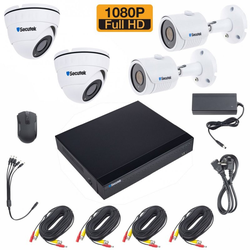 Kameraset Secutek SLG-XVRA2004D4M200 - 4x Außenkameras, 1080P 4x Außen- dome Kamera