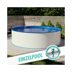 Pool Ø 4,00 x 1,20 m Folie blau 0,6mm EB, Stahl 0,6mm