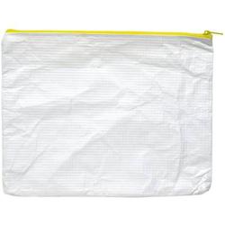 Reißverschlusstasche A5 PE-Vlies gelb