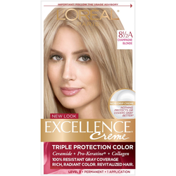 L'Oreal Paris Excellence Triple Protection Permanent Hair Color - 6.3 fl oz - 8.5A Champagne Blonde - 1 Kit