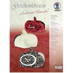 Geschenkbox Hochzeit Klassik 6,5x6x4,3cm VE=12 Stück