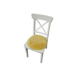 Hollert Sitzkissen, Lammfell Sitzkissen echt Merino Lammfell Accessoire gelb