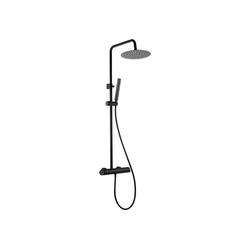 Deante Duscharmatur ARNIKA-30 Duschsystem mit Mischarmatur Nero schwarz matt mit Regendusche