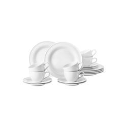 Seltmann Weiden Geschirr-Set Kaffeeservice 18-teilig BT - Beat Weiß