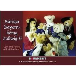 Bäriger Bayernkönig Ludwig II als Buch von