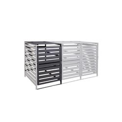 MCW Mülltonnenbox MCW-H62, erweiterbar, abschließbar grau