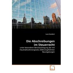 Die Abschreibungen im Steuerrecht als Buch von Luca Scardoni