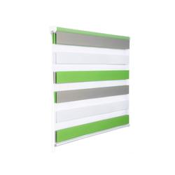 Doppelrollo, Woltu, Duo Rollo Klemmfix ohne Bohren im Fixmaß grün 55 cm x 150 cm